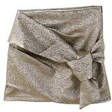 MANGO Knot metallic skirt
