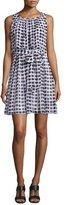 Kate Spade Sleeveless Printed Silk Popover Dress