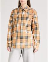 Burberry Rainbow-stripe checked cotton shirt