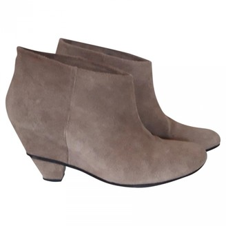 IRO Spring Summer 2019 Beige Suede Ankle boots