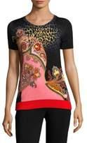 Etro Leopard Stampa T-Shirt