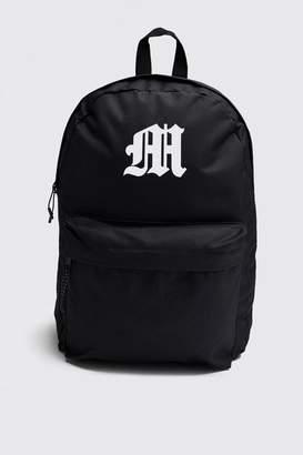 boohoo Gothic M Print Backpack