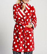Sleep Sense Dotted & Striped Plush Wrap Robe