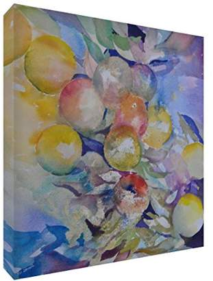 Camilla And Marc Feel Good Art Print Brightly Coloured Abstract Artist's from Val Johnson Large Hanging Fruit - 43 x 43 x 4 cm