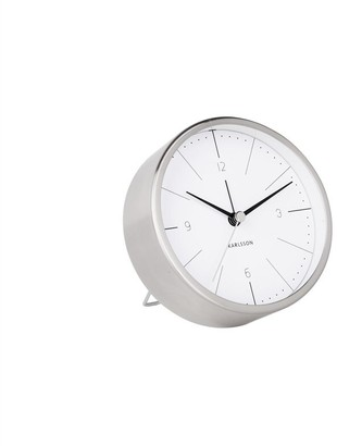 Karlsson Minimal Metal Alarm Clock - Silver