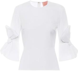 Roksanda Kemi ruched cotton top