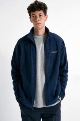 Columbia Fast Trek II Navy Fleece Zip-Through Jacket - blue S at Urban Outfitters
