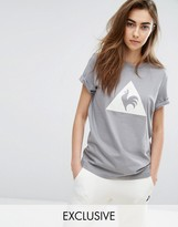 Le Coq Sportif Exclusive To Asos Flocked Logo T-Shirt In Grey