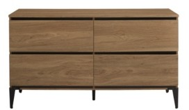 "Walker Edison 52"" 4-Drawer Urban Storage Console"