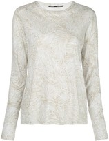 Proenza Schouler palm printed long sleeve T-shirt