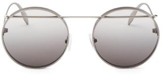 Alexander McQueen 54MM Metal Piercing Frame Sunglasses