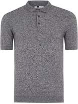 Topman Grey Salt and Pepper Muscle Fit Knitted Polo