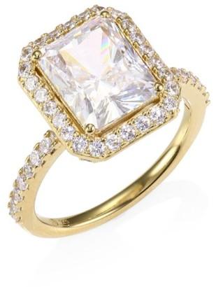 Adriana Orsini 18K Yellow Goldplated Sterling Silver Framed Rectangular Ring