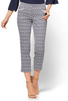 New York & Co. 7th Avenue Pant - Crop Straight Leg - Signature - Aztec Print