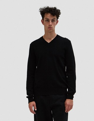 Comme des Garcons Play Small Black Heart Pullover in Black