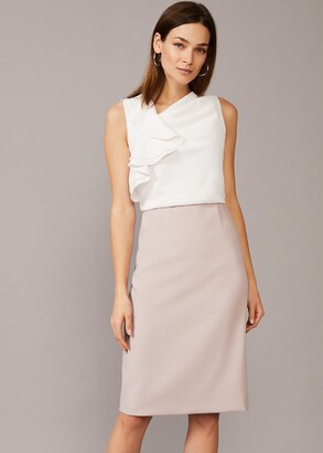 Phase Eight Maeve Frill Fitted Dress
