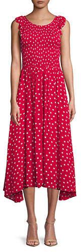 Free People Chambray Butterflies Ruffle Midi Dress