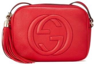 Gucci Red Grained Leather Soho Disco