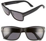 Tom Ford Women's 'Mason' 58Mm Sunglasses - Matte Black/ Smoke Polarized