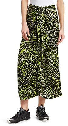 Ganni Silk Stretch Satin Maxi Skirt