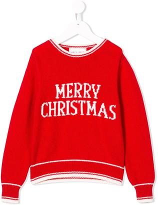 Alberta Ferretti Kids Merry Christmas jumper