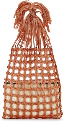 MEHRY MU Fey Bronze Crochet Top Handle Bag
