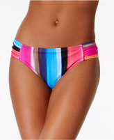 LaBlanca La Blanca Over The Horizon Printed Shirred Hipster Bikini Bottoms