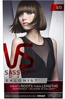 Vidal Sassoon Salonist Hair Colour Permanent Color Kit, 5/0 Medium Neutral Brown