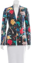 Alice + Olivia Collarless Floral Print Blazer