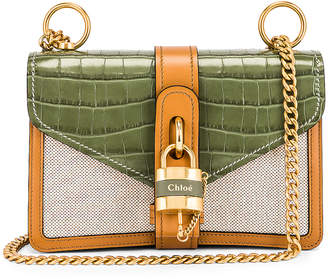Chloé Small Aby Chain Shoulder Bag in Misty Forest | FWRD