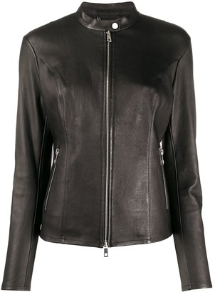 Desa 1972 Fitted Zipped Leather Jacket