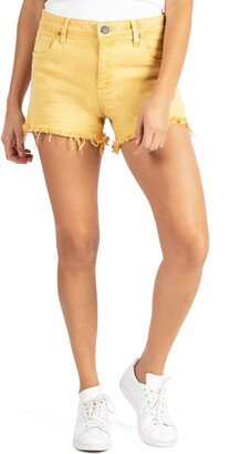 KUT from the Kloth Jane High Waist Fray Hem Cutoff Denim Shorts