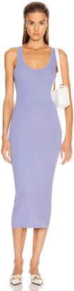 Enza Costa Rib Tank Midi Dress in Mid Blue   FWRD