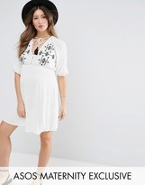 Asos Beach Dress With Embroidery