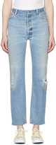 RE/DONE Re-done Blue Ultra High-rise Straight Jeans