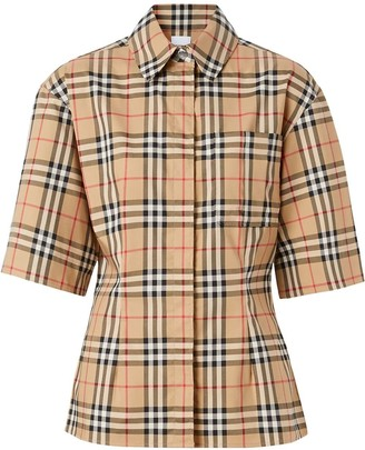 Burberry Short Sleeve Vintage Check Cotton Shirt