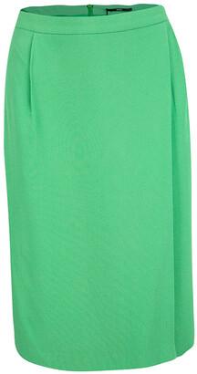 Boss by Hugo Boss Green Overlap Detail Vakira Skirt M