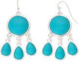 Liz Claiborne Silver-Tone Blue Stone Chandelier Earrings