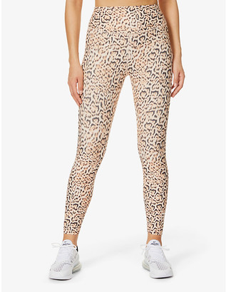 Lorna Jane Eco 7/8 leopard-print stretch-recycled polyester leggings