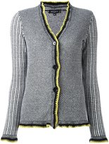 Etro contrast trim woven cardigan