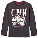 Joules Charcoal Snowmies Print Tee