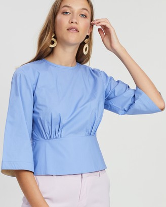 Maison Scotch Fitted Waist Panel Top