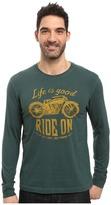 Life is Good Ride On Motorcycle Long Sleeve Crusher Tee