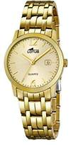 Lotus Women's Quartz Watch with Gold Dial Analogue Display and Stainless Steel Gold Plated Bracelet 18181/1