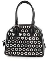 Alaia Pre-owned: Zip Around Convertible Satchel Grommet Embellished Leather Mini.