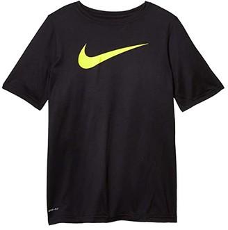 Nike Kids Dry Short Sleeve Training T-Shirt (Little Kids/Big Kids) (Black/Lemon Venom) Boy's T Shirt