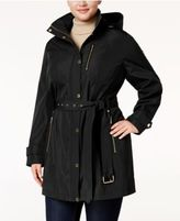 MICHAEL Michael Kors Size Hooded Belted Raincoat