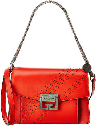 Givenchy Gv3 Small Perforated Leather Shoulder Bag
