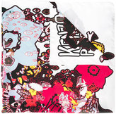 Kenzo multi icon scarf - women - Silk - One Size