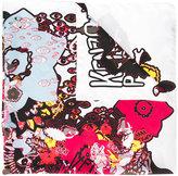 Kenzo multi icon scarf - women - Silk - One Size